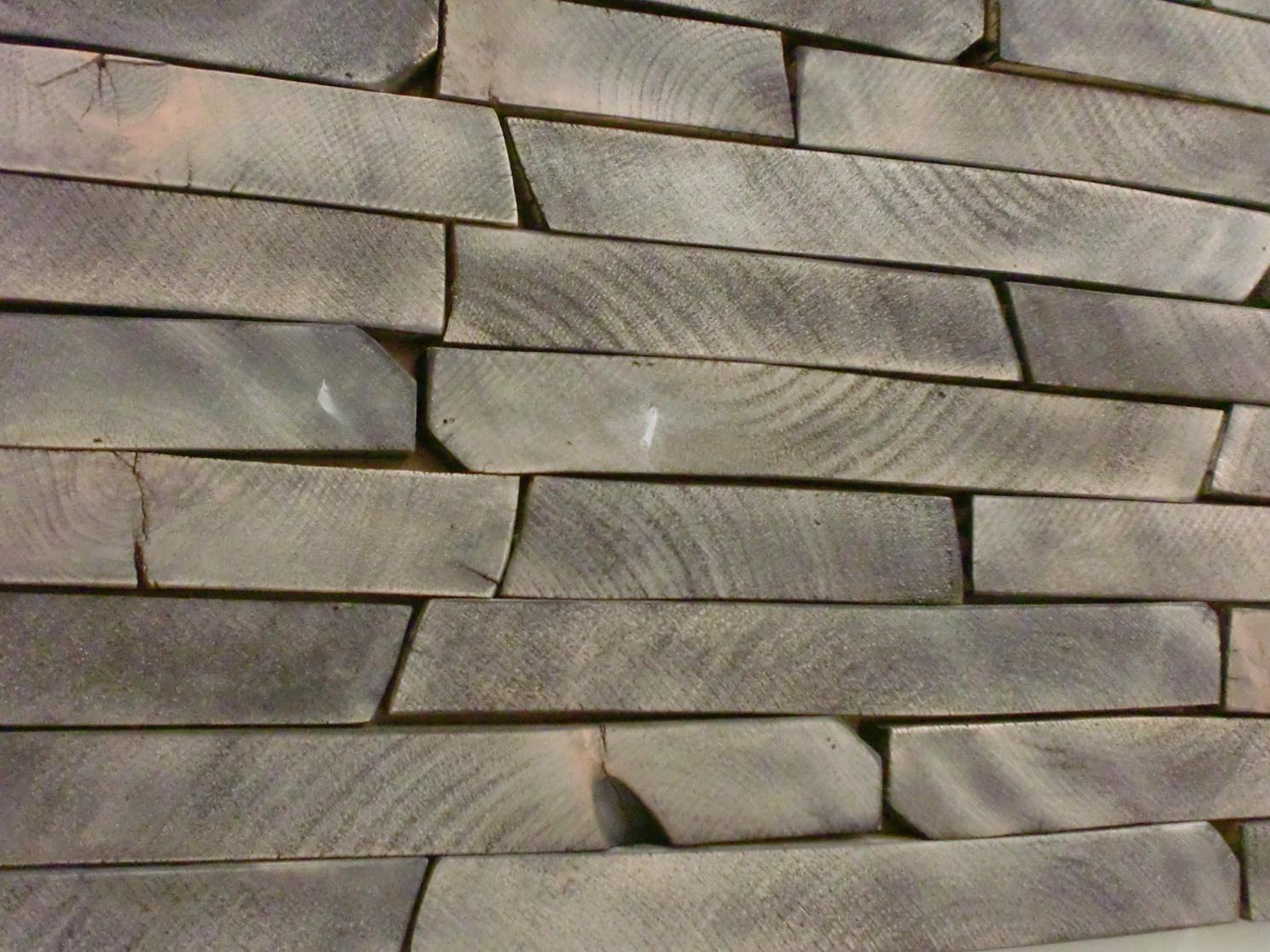 Rivestimento parete - smocked - Rivas - Artigianato e Design del legno