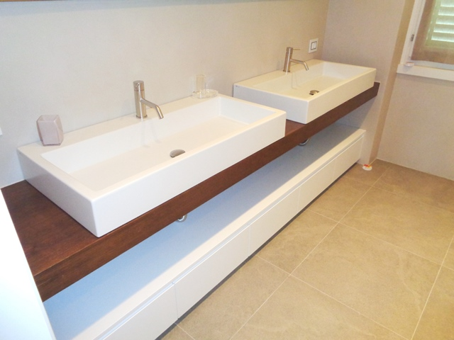 top bagno in rovere