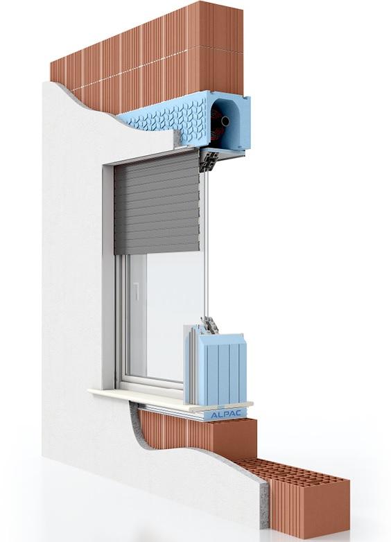 monoblocco con finestra e avvolgibile