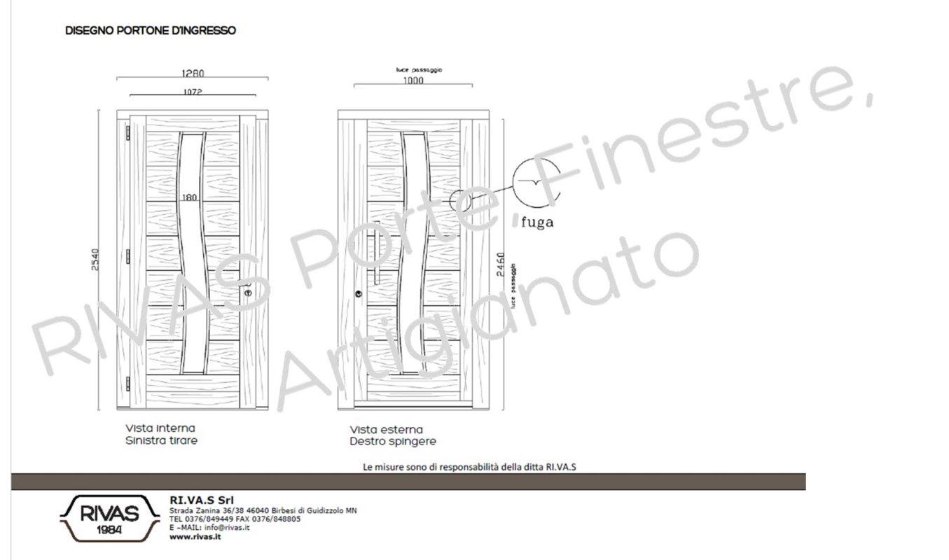 Dimensioni Porta Ingresso Casa portoncino in legno mantova: il modello esclusivo di chiara